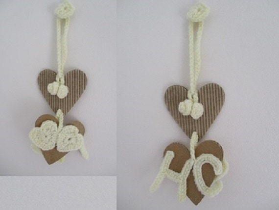 Personalised Wedding Good Luck Gifts : Wedding good luck charm, decoration, happy couple, handmade, hearts ...