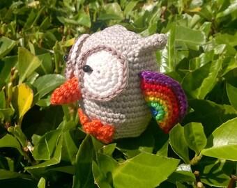 Mini-owl, crochet (7 cm, amigurumi), wings colour of choice