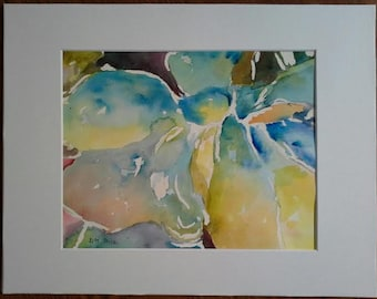 CDP#5  Watercolor   Magnolia in Blue by D. M. Rice