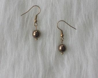 """""""Golden Pearl"""" earrings"""