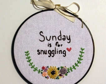 """7"""" embroidered hoop"""