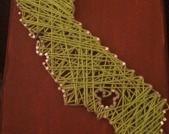California Nail & String Art with Mickey over Anaheim