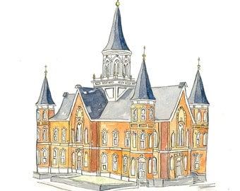 Provo City Center Temple-Watercolor