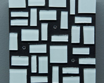 White Glass Art, Glass Art, Wall Decor, Abstract Art, Home Decor, Colorful Art, Contemporary, Modern