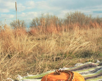 ORGANIC Buckwheat hull Meditation-Japa-Yoga Cushion/Bolster/Zafu Handmade & Handloom
