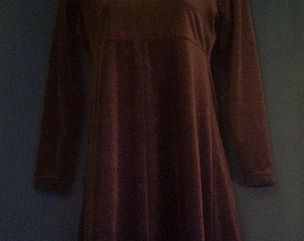 Dress, Brown and Velvety