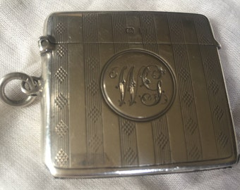Collectable Tobacciana Match Safe Vesta. Match Vesta Case. Collectors Item. Smokers Collectable.