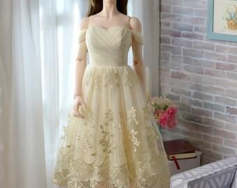Drop Shoulder Prom Dress for Iplehouse EID BJD Woman