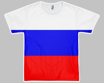Russian Flag Inspired All Over (Sublimated) Tee