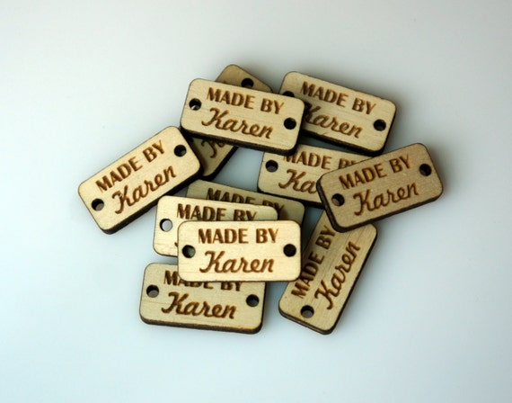 Custom wood tags personalized buttons small wooden tags for Custom tags for crafts