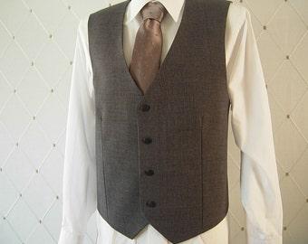 Men's Vest, Steel Blue Vest, Midnight Blue Vest, Wedding Vest, Groom Vest, Groomsmen Vest, Men's Waistcoat, Men's Suit, Businessman Vest