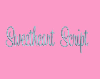 Sweetheart Script Embroidery Font  - 3 Size Embroidery Designs Monogram Fonts BX Embroidery Fonts  ~ INSTANT DOWNLOAD