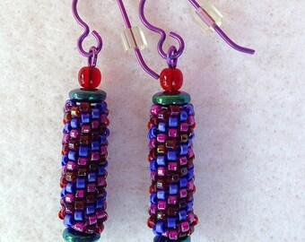 Bead and Niobium Earrings