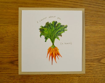 Funny & Cute Carrot Pun Greeting Card