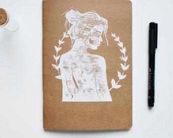 Beauty Is Death Monoprint A5 Sketchbook