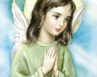 GUARDIAN ANGEL Picture - Ready to Frame 8x10 Print from Italy