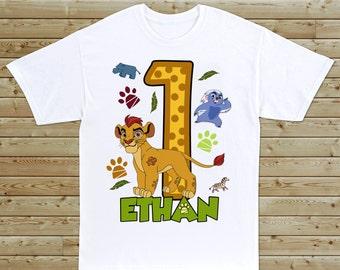 Lion Guard Custom Birthday T-Shirt - Boys