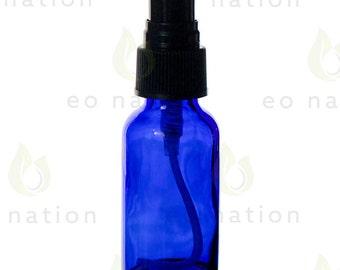 1 oz Cobalt Glass Spray Bottle