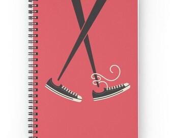 Chuck Taylors Journal - Chopsticks Journal - Chucks - Shoes Journal - Chuck Taylor All Star - Japanese Journal - Spiral Journal - Sneakers