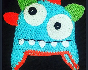 Little Monster Earflap Beanie