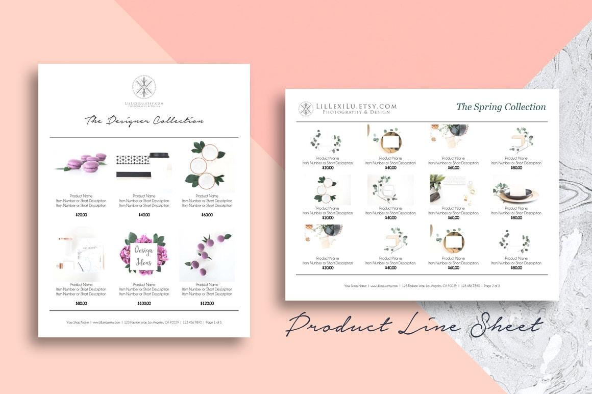 line sheet word template wholesale catalog simple elegant. Black Bedroom Furniture Sets. Home Design Ideas