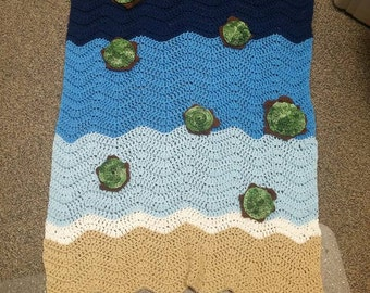 Crocheted Turtle Blanket