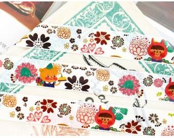 cute cartoon washi Masking tape 10M little red hat girl flower tape kwaii cartoon Japanese cartoon lovely sticker tape scrapbook gift decor