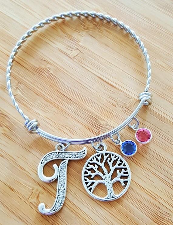 Mom Bracelet with Birthstones / Grandma Bracelet with Birthstones / Birthstone Bracelet / Mom Gift / Grandma Gift / Tree of Life Bracelet