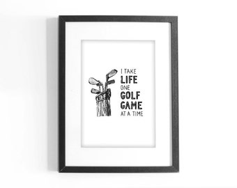 Golf And Life Quotes Impressive Golf Quote  Etsy