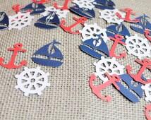 Nautical Confetti- Scrapbooking- Birthday- Table Decor- Pinata- Baby Shower Confetti