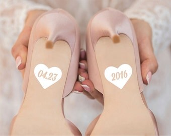 Wedding Date Shoe Decals for Wedding Day