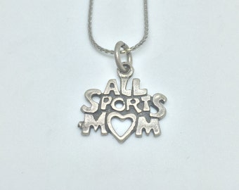 All Sports Mom Silver 925 Vintage Sports Charm, Item 25- Free Shipping within USA