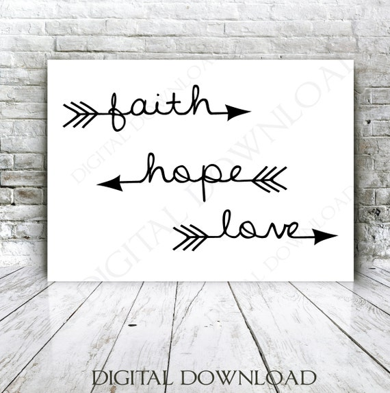 Faith Hope Love Arrow Quote Vector Digital Design Download