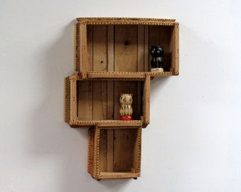 pallet furniture etsy. wall cabinet accent coastal decor pallet wood curio furniture etsy