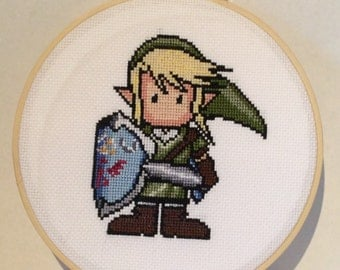 Zelda Completed Cross Stitch