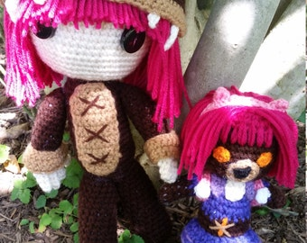League of Legends Reverse Annie and Tibbers Crochet Doll