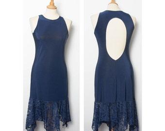Zipfligem lace dance dress and large back