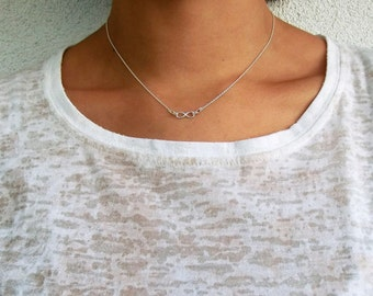 Dainty Infinity & Beyond necklace - Sterling silver or Gold infinity necklace