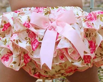 Baby girl ruffled bloomer/ Baby girl diaper cover