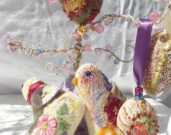 Hand-Sewn Felt Spring Chicks