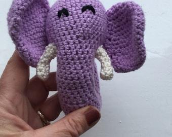 Sweet Elephant Rattle Toy