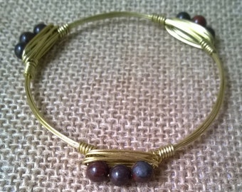 Fancy Jasper Bangle Bracelet