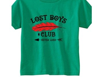 Toddler Disney Shirts Lost Boys Club Shirts  Disneyland Shirts Disney World Shirts Peter Pan Shirts Magic Kingdom