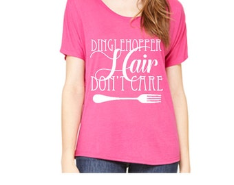 Ladies Slouchy Tee Dinglehopper hair don't care Shirt Disneyland Shirt Disney World Shirt womens shirt  Magic Kingdom Tee