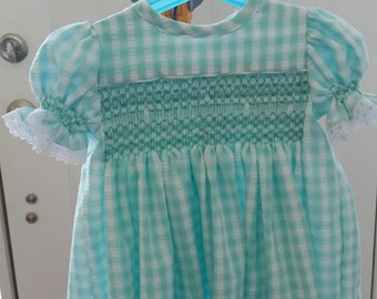 Smocked Girl's Dress
