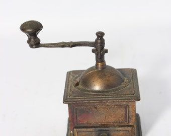 Cast Metal Replica Coffee Grinder PENCIL SHARPENER / Miniature Collectible - Hong Kong - Movable Parts