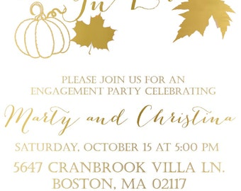 Let's Fall in Love Engagement Party Invitation