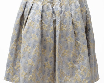 BLUMARINE-Skirt Azzurra Florale 38-Blue Marine-Light Blue floreal skirt