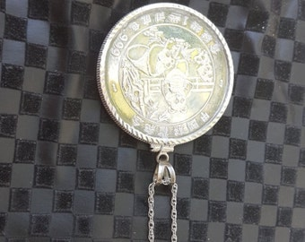 1 OZ Chinese Panda Sterling Silver Coin with .925 silver chain