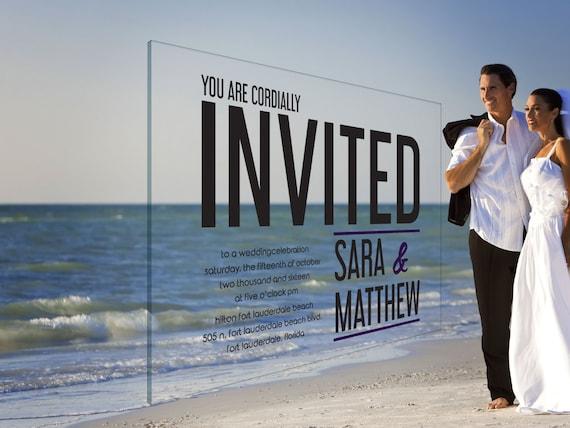 Clear Wedding Invitations: Clear Acrylic Wedding Invitations 1/8 Plexiglass